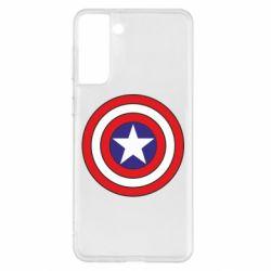 Чехол для Samsung S21+ Captain America