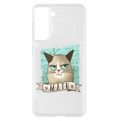 Чехол для Samsung S21 Cat and Math