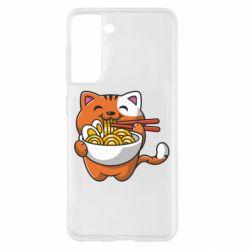 Чохол для Samsung S21 Cat and Ramen