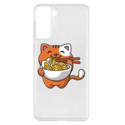 Чохол для Samsung S21+ Cat and Ramen