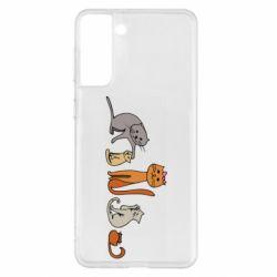 Чехол для Samsung S21+ Cat family