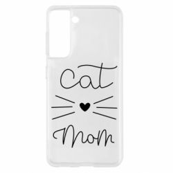 Чохол для Samsung S21 Cat mom