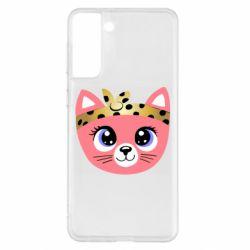 Чехол для Samsung S21+ Cat pink