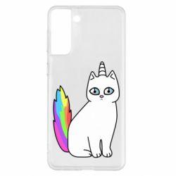 Чехол для Samsung S21+ Cat Unicorn