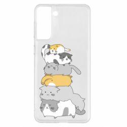 Чохол для Samsung S21+ Cats