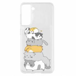 Чохол для Samsung S21 Cats