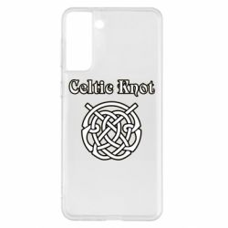 Чохол для Samsung S21+ Celtic knot black and white