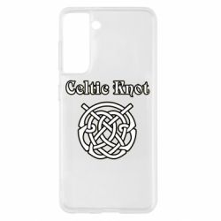 Чохол для Samsung S21 Celtic knot black and white