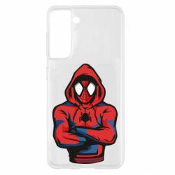 Чохол для Samsung S21 Людина павук в толстовці