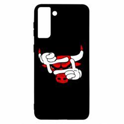 Чехол для Samsung S21+ Chicago Bulls бык