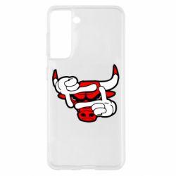 Чехол для Samsung S21 Chicago Bulls бык