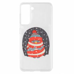Чехол для Samsung S21 Christmas Sweet Penguin