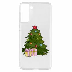 Чехол для Samsung S21+ Christmas tree and gifts art