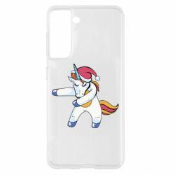 Чохол для Samsung S21 Christmas Unicorn