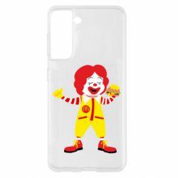 Чохол для Samsung S21 Clown McDonald's
