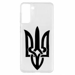Чехол для Samsung S21+ Coat of arms of Ukraine torn inside