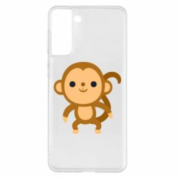 Чохол для Samsung S21+ Colored monkey