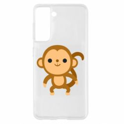 Чохол для Samsung S21 Colored monkey
