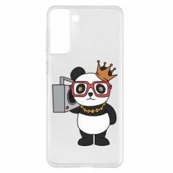 Чохол для Samsung S21+ Cool panda