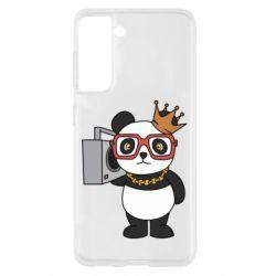 Чохол для Samsung S21 Cool panda