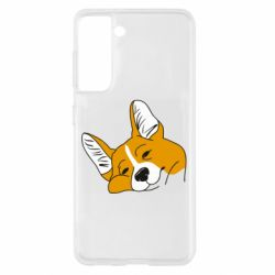 Чохол для Samsung S21 Corgi is dozing