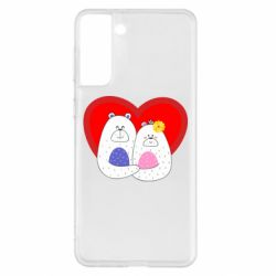 Чохол для Samsung S21+ Couple Bears