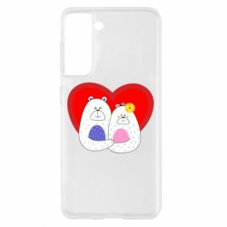 Чохол для Samsung S21 Couple Bears
