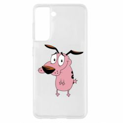 Чохол для Samsung S21 Courage - a cowardly dog