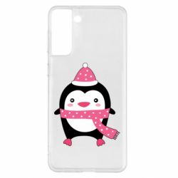 Чехол для Samsung S21+ Cute Christmas penguin