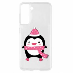 Чехол для Samsung S21 Cute Christmas penguin