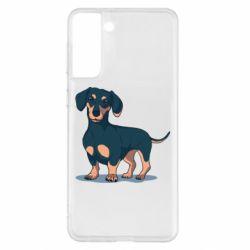 Чохол для Samsung S21+ Cute dachshund