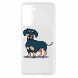 Чохол для Samsung S21 Cute dachshund