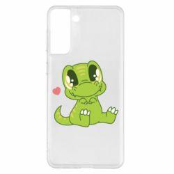 Чохол для Samsung S21+ Cute dinosaur