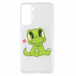 Чохол для Samsung S21 Cute dinosaur