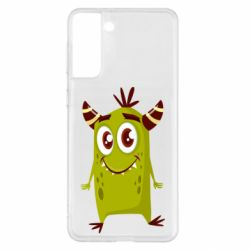 Чохол для Samsung S21+ Cute green monster