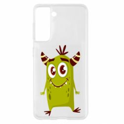 Чохол для Samsung S21 Cute green monster