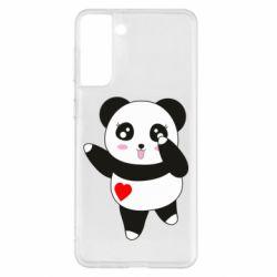 Чохол для Samsung S21+ Cute little panda
