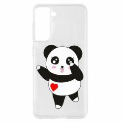 Чохол для Samsung S21 Cute little panda