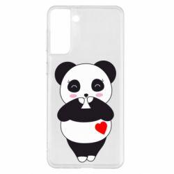 Чохол для Samsung S21+ Cute panda