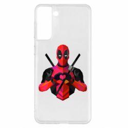 Чохол для Samsung S21+ Deadpool Love