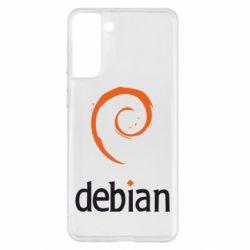 Чехол для Samsung S21+ Debian