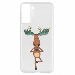 Чохол для Samsung S21+ Deer and Yoga
