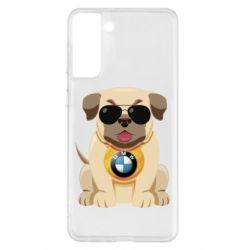 Чохол для Samsung S21+ Dog with a collar BMW