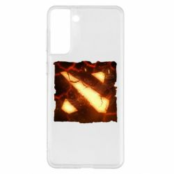 Чехол для Samsung S21+ Dota 2 Fire Logo