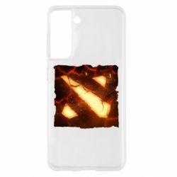 Чехол для Samsung S21 Dota 2 Fire Logo