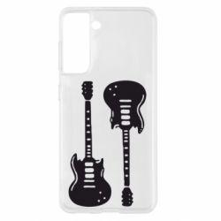 Чохол для Samsung S21 Дві гітари
