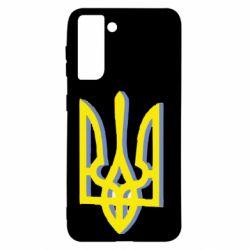Чехол для Samsung S21 Двокольоровий герб України