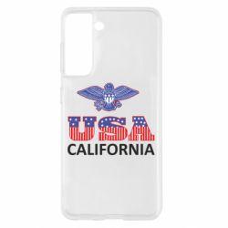 Чехол для Samsung S21 Eagle USA