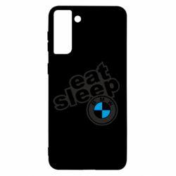 Чохол для Samsung S21+ Eat, sleep, BMW