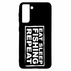Чохол для Samsung S21 Eat, sleep, fishing